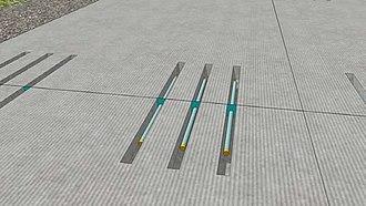 Dowel bar retrofit - Illustration of dowel bar retrofitting used for pavement preservation