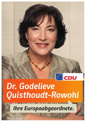 Godelieve Quisthoudt-Rowohl - MEP Quisthoudt-Rowohl's Election Poster