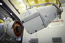 Dragon spacecraft mated to Falcon 9 rocket.jpg