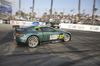 Aston Martin Vantage GT2 - Drayson-Barwell's V8 Vantage GT2 at the car's debut, the 2008 American Le Mans Series at Long Beach.