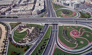 This is a photo showing an interchange in Duba...