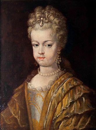 Marie Amalie of Brandenburg - Image: Duchess Maria Amalia of Saxony Zeitz c 1700