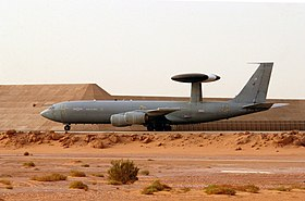 E-3D 8 Sqn RAF taking off in Saudi Arabia 2003.JPEG