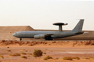 No. 8 Squadron RAF - Sentry AEW1 of 8 Squadron in Saudi-Arabia, in 2003.