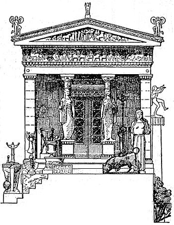 EB1911 Greek Art - Restoration of the Treasury of Cnidus.jpg