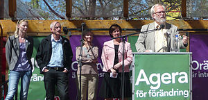 Mona Sahlin - Mona Sahlin (second from the right) and the top Social Democratic Party candidates for the European Parliament elections in 2009.