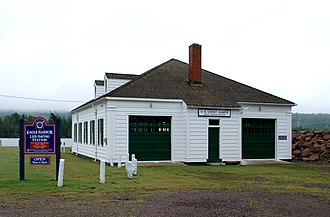 Eagle Harbor Coast Guard Station Boathouse - Image: Eagle Harbor Coast Guard Station Boathouse A