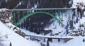 Red Cliff, Colorado - Eagle River Bridge on U.S. Highway 24 near Red Cliff