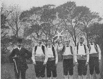 Rapper sword - The Royal Earsdon sword dancers in 1910