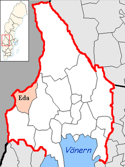 Eda Municipality Wikipedia - Sweden map varmland