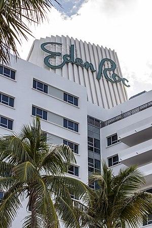 Eden Roc Miami Beach Hotel - Hotel crest and sign