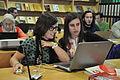 Editando durante la Editaton del exilio republicano español en Chile 03.JPG