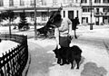 Edith Södergran with the dog Matti(?). Viborg.jpg