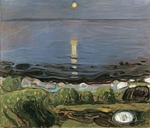Edvard Munch - Summer night by the beach (1902-03).jpg