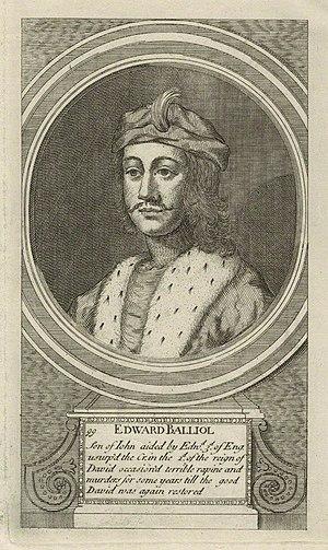 Edward Balliol - Mid 18th century engraving of Edward Balliol