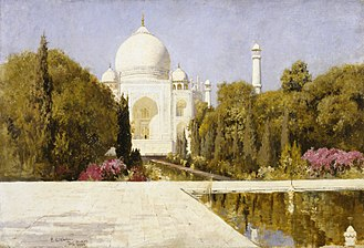 Shah Jahan - A depiction of The Taj Mahal, the burial place of Shah Jahan and his wife Mumtaz Mahal, by artist Edwin Lord Weeks, The Walters Art Museum