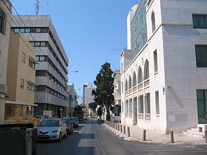Tel Aviv Stock Exchange in Ehad Haam Street