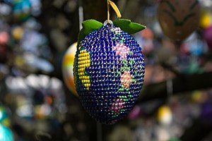 Easter egg tree - Image: Eiermotiv Perlen