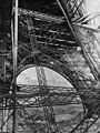 Eiffel Tower, construction view in 1889 of the girders of the first story.jpg