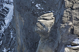 Eiger - Close view of the north face from the west ridge
