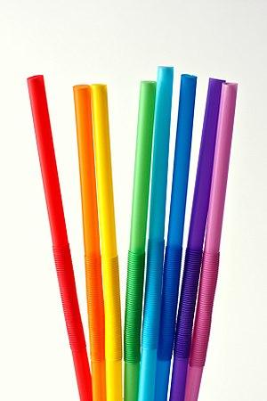 Drinking straw - Eight drinking straws.