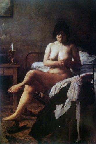 """Eduardo Sívori - El despertar de la criada (""""Waking of the Servant,"""" 1887)."""