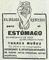El mejor remedio para el estómago, bicarbonato de sosa Torres Muñoz, en La Esfera.jpg