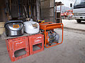 Electro rice cookers with a generator in 2011 Japan.jpg