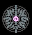 Electron shell 059 praseodymium.png