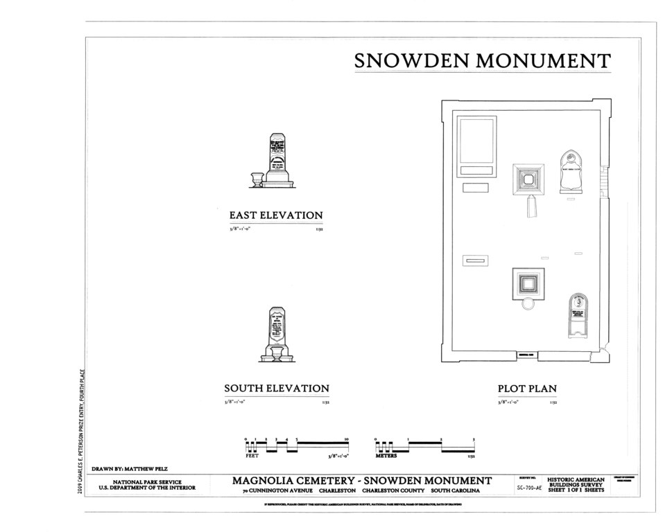 File elevations and plot plan magnolia cemetery snowden for Plot plan drawing software