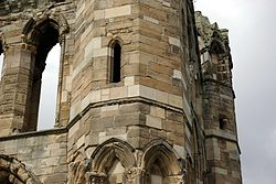 Elgin Cathedral east gable new blockwork.jpg