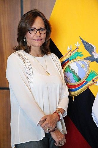 Elizabeth Cabezas - Image: Elizabeth Cabezas Presidenta de la Asamblea Nacional del Ecuador 2017 2018