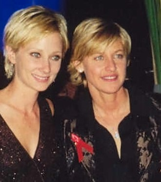 Supercouple - Former supercouple Heche (left) and DeGeneres (right) at the 1997 Emmy Awards