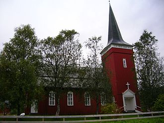 Elsfjord Church - View of the church