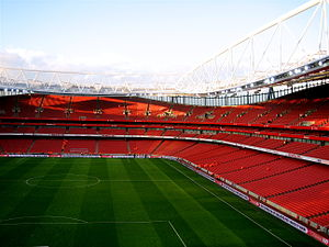 England 2018 FIFA World Cup bid - Image: Emirates Stadium, Nearly empty