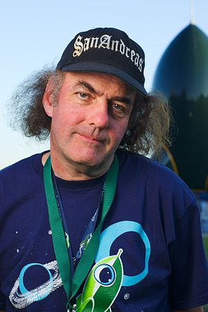 """Eric Corley - Eric """"Emmanuel Goldstein"""" Corley at Chaos Communication Camp in 2011"""