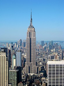 The Empire State Building as seen from the Top of the Rock