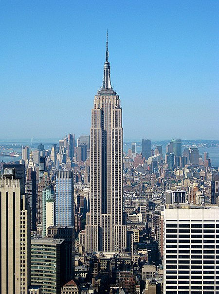 Ficheiro:Empire State Building from the Top of the Rock.jpg