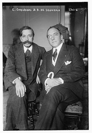 Enrique Granados - Enrique Granados and Andrés de Segurola in 1915