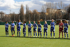 Eskilstuna United DFF - Lining out in April 2013