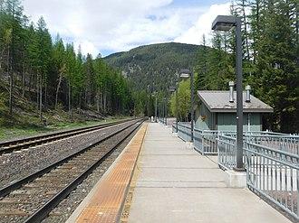 Essex station (Montana) - Essex station platform in May 2017