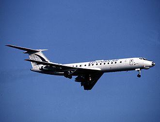 Estonian Air - A former Estonian Air Tupolev Tu-134 in 1994