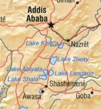 Rift Valley lakes - Image: Ethiopia central lakes