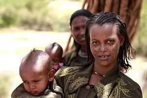 Women with children, Rift Valley, southern Eth...