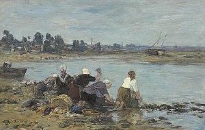 Leicester Galleries - Image: Eugène Boudin Laveuses au bord de la Touques (II)