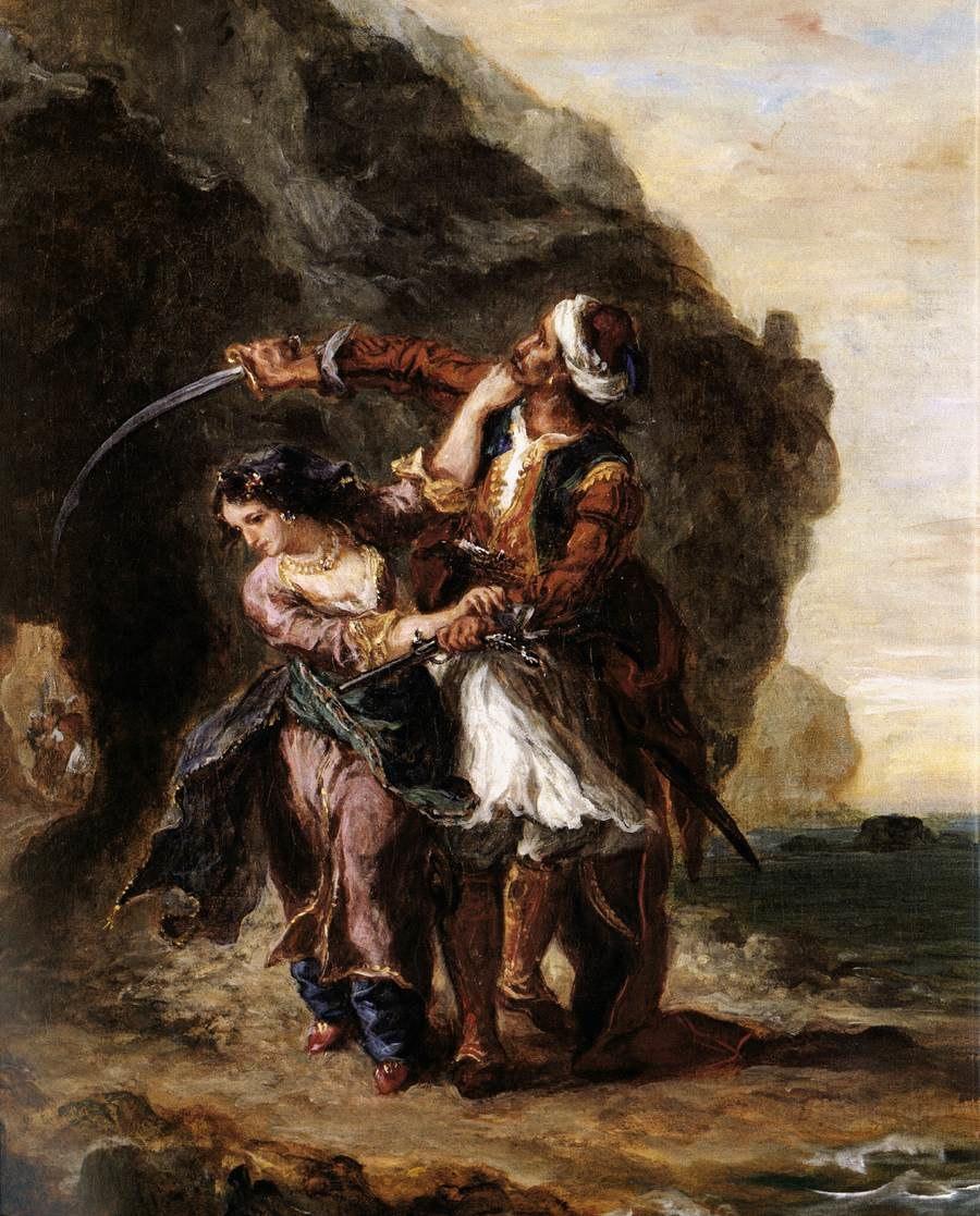 Eugène Delacroix - The Bride of Abydos - WGA06224