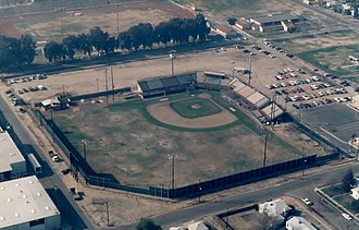 Fresno Giants - Euless Park aerial view, Spring 1987