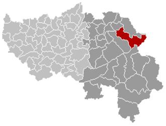 Eupen - Image: Eupen Liège Belgium Map