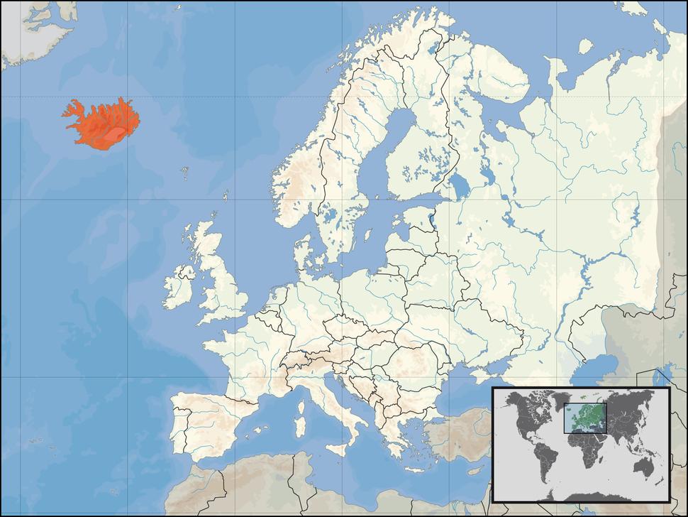Položaj Islanda
