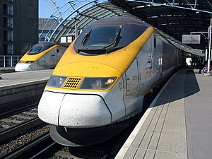 Eurostar International Limited - Class 373 sets at London Waterloo in May 2005